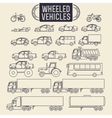 Wheeled vehicles icons vector image vector image
