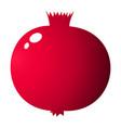 whole pomegranate design juicy fresh fruit icon vector image vector image