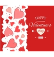 Happy Valentine s Day lettering Greeting Card vector image