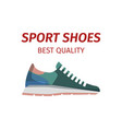 sport shoes quality sneakers logo icon isolated vector image