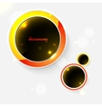 Abstract background with black bubbles vector image