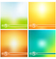 sunny creative background vector image