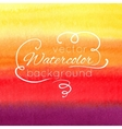 Watercolor abstract colorful background vector image