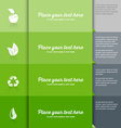Ecology icons on green tiled background vector image