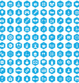 100 birthday icons vector image vector image