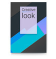abstract design with multi colored layers paper vector image