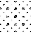 american icons pattern seamless white background vector image vector image