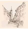 an old european city vector image