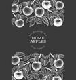apple branch design template hand drawn garden vector image vector image