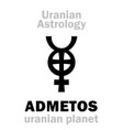 astrology admetos uranian planet vector image vector image