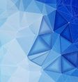 Blue polygonal abstract backdrop vector image vector image