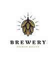 brewing company logo brewing logo vintage brewing vector image