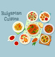 bulgarian cuisine savory dishes icon design vector image vector image