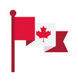 canada day canadian flag maple leaf national sign vector image