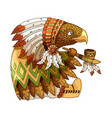 cartoon colored character american eagle in vector image