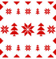 christmas ornament banner red isolated background vector image vector image
