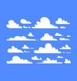 clouds set blue sky cartoon for landscape vector image