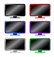 colored computer monitors vector image