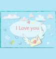 doodle style mail envelope with vector image vector image
