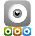 eps 10 eye - eyeball icons in four colors vector image vector image