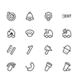 fireman element icon set on white backgroun vector image vector image