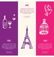 France Touristic Vertical Web Banners vector image vector image