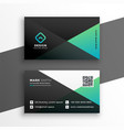 geometric elegant turquoise color business card vector image vector image