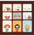 Gift tags with love on brown background vector image