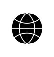 globe icon black sign on vector image vector image
