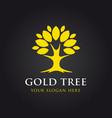 gold tree logo vector image