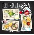Gourmet bar vector image