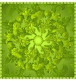 Green floral ornament background vector image vector image