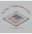 greeting card - USA Independence Day with road vector image