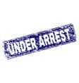 grunge under arrest framed rounded rectangle stamp vector image vector image