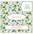 Hand drawn floral banners with flowers and leaves vector image vector image
