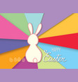 happy easter greeting card bunny eggs holiday vector image vector image
