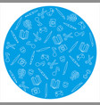 hobbies icons set on blue background vector image vector image