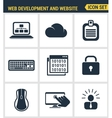 Icons set premium quality of web development and vector image vector image
