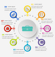 infographic template with tool icons vector image vector image
