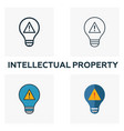 intellectual property outline icon thin line vector image vector image