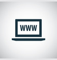 laptop www icon simple flat element concept design vector image vector image