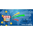 Long Background Online Shopping vector image vector image