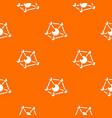 molecule lab pattern orange vector image vector image