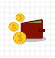 Money savings wallet vector image
