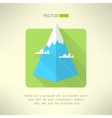 Mountain icon with clouds made in modern flat vector image