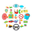 order transportation icons set cartoon style vector image vector image