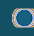 overlapping blue circle paper background vector image
