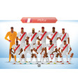 peru national football team for international vector image vector image