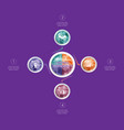 polygonal infographics for designs on 4 positions vector image vector image
