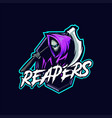 reapers mascot esport logo vector image vector image